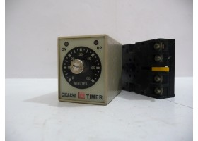 Timer with Base, AH3-1, 0 ~ 60, 240 VAC, CIKACHI Electronics (14 Days Warrenty on Entire Stock)