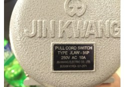 Pull Cord/Rope Switch, JLAW-31P, 831-2571, Jinkwang, Korea  (14 Days Warrenty on Entire Stock)